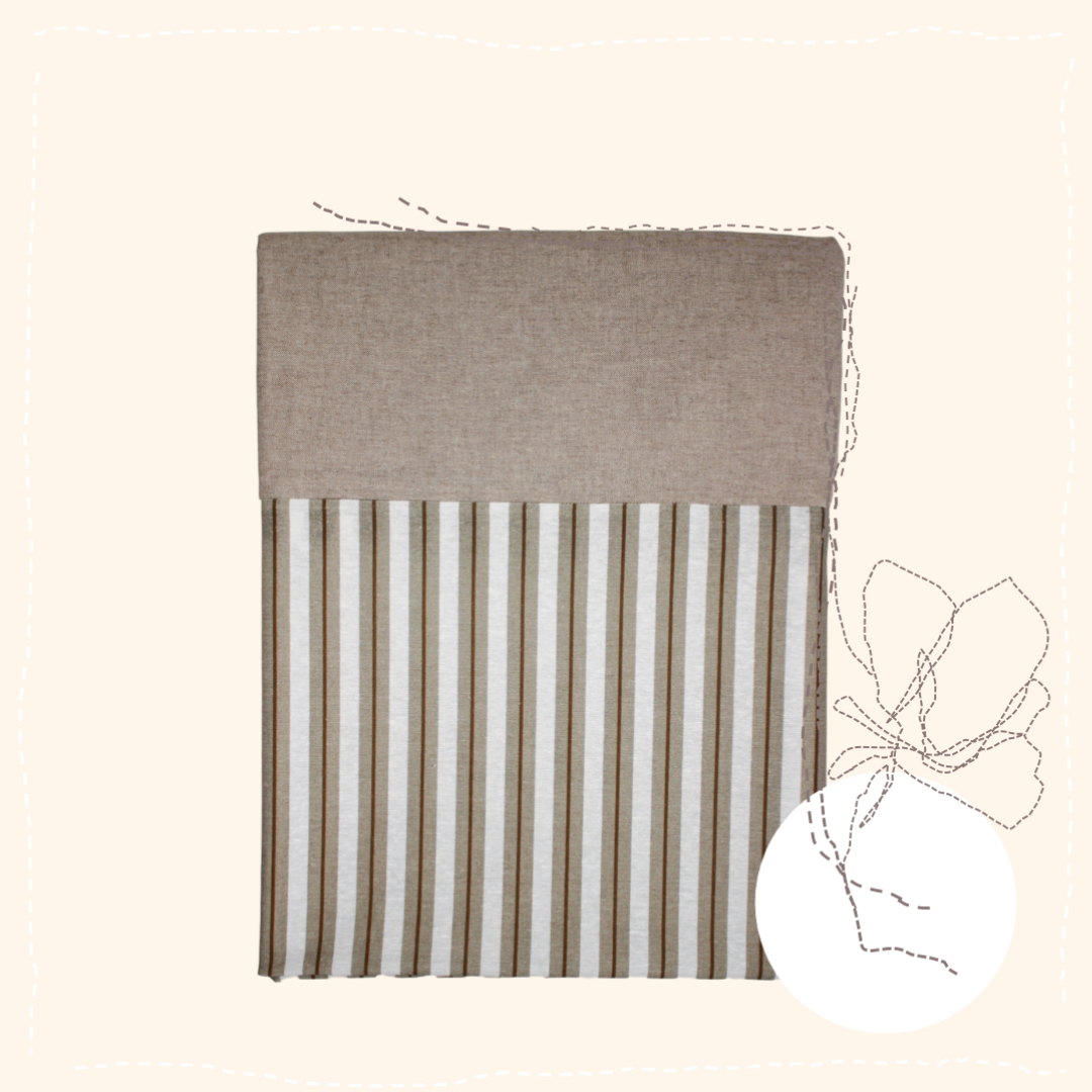 Brown Stripes Tablecloth